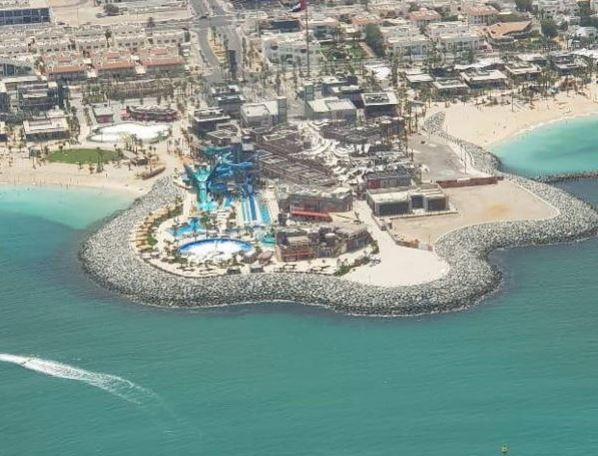 Вид на Дубай с вертолёта