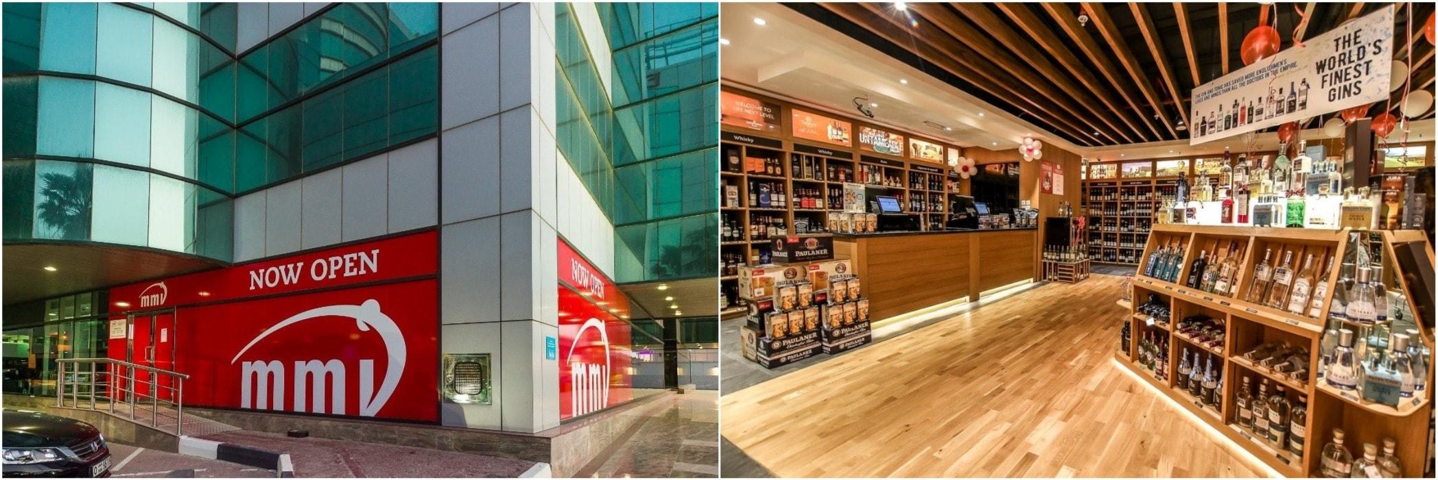 Алкоголь в бутылках продаётся только в специализированных магазинах, например в MMI.