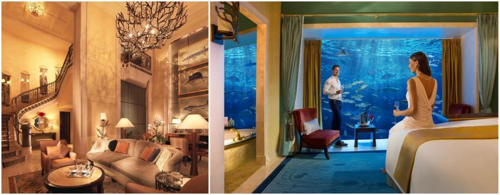 В номере Underwater Suites