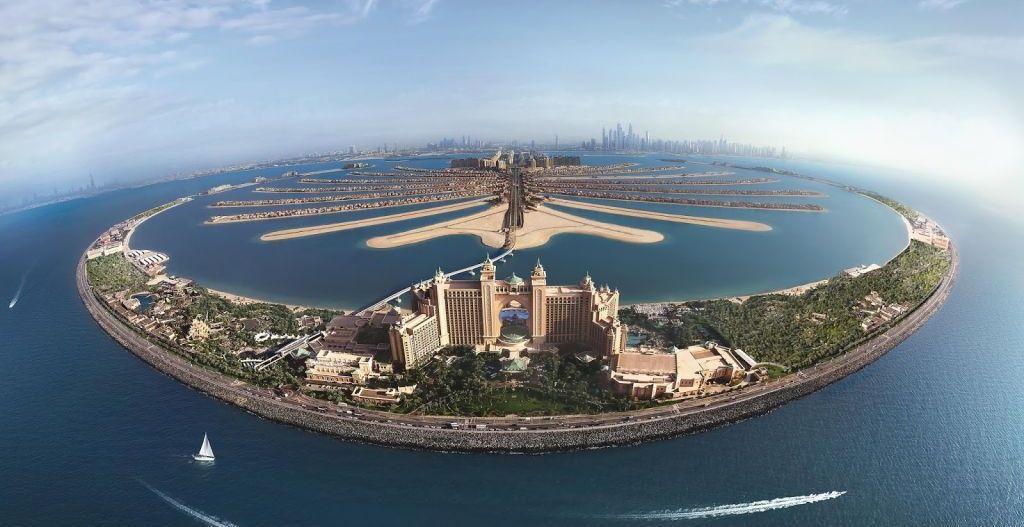 Комплекс Atlantis the Palm с высоты
