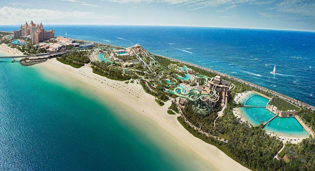 Аквапарк Aquaventure и его пляж
