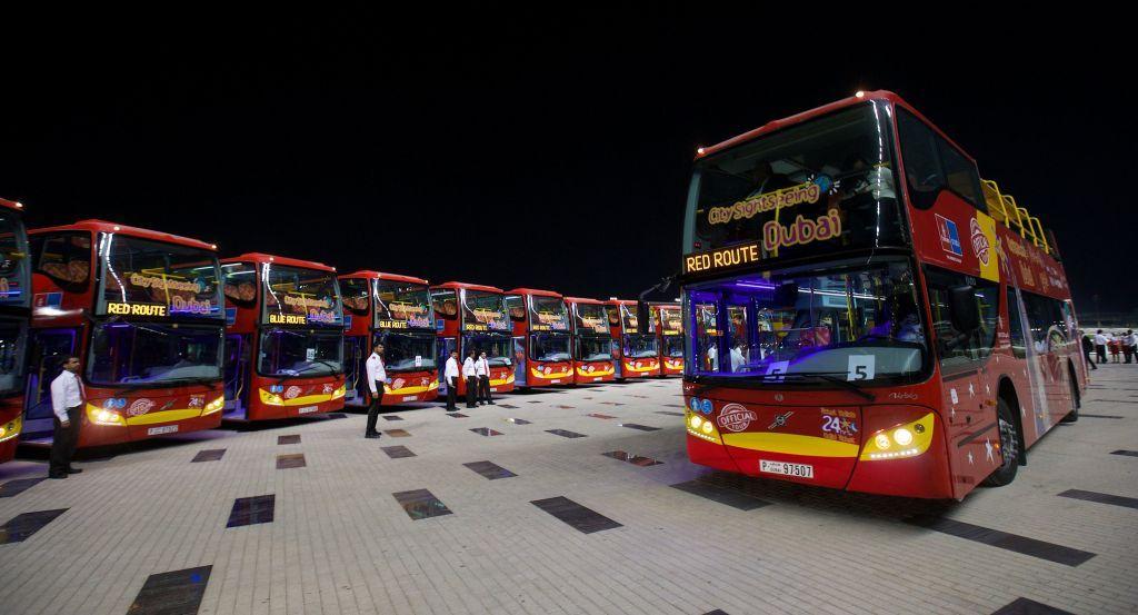 Автобусы City Sightseeing Dubai.