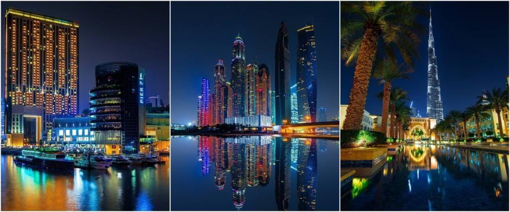 Ночной Дубай.