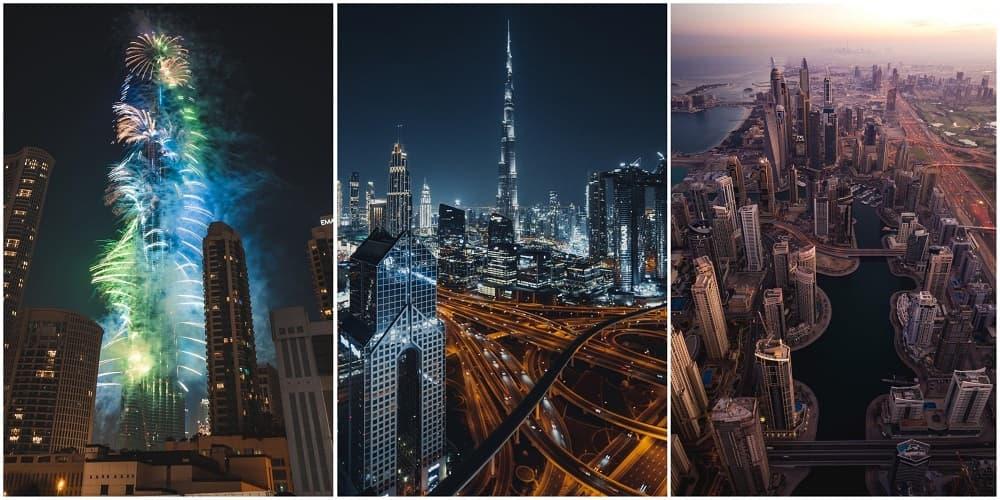 В июле гулять по городу комфортно только после заката, благо ночью Дубай шикарен.
