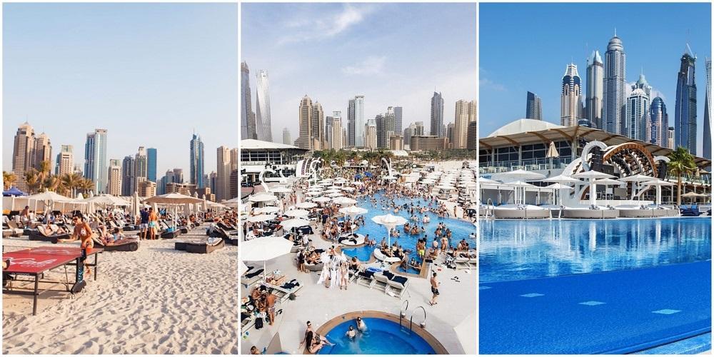 Пляжный клуб Zero Gravity в Дубае.