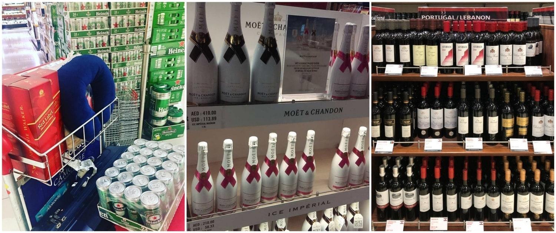 Алкоголь в Дьюти Фри Дубая