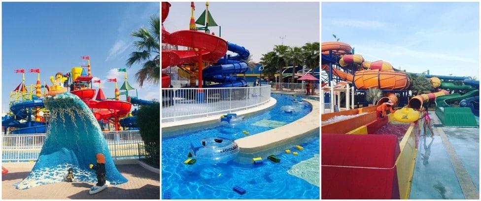 В аквапарке Legoland Dubai.