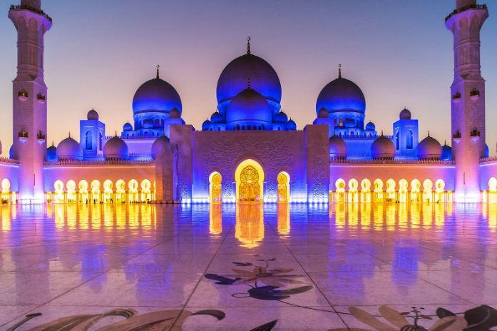 Наружное освещение мечети