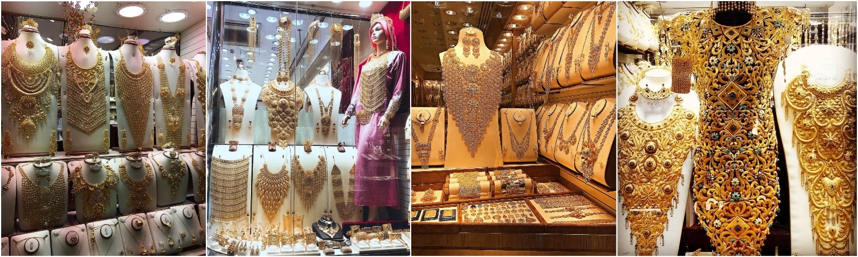 Несмотря на большое количество туристов из Европы и Азии, основные покупатели - арабские женщины, поэтому преобладают украшения на их вкус.