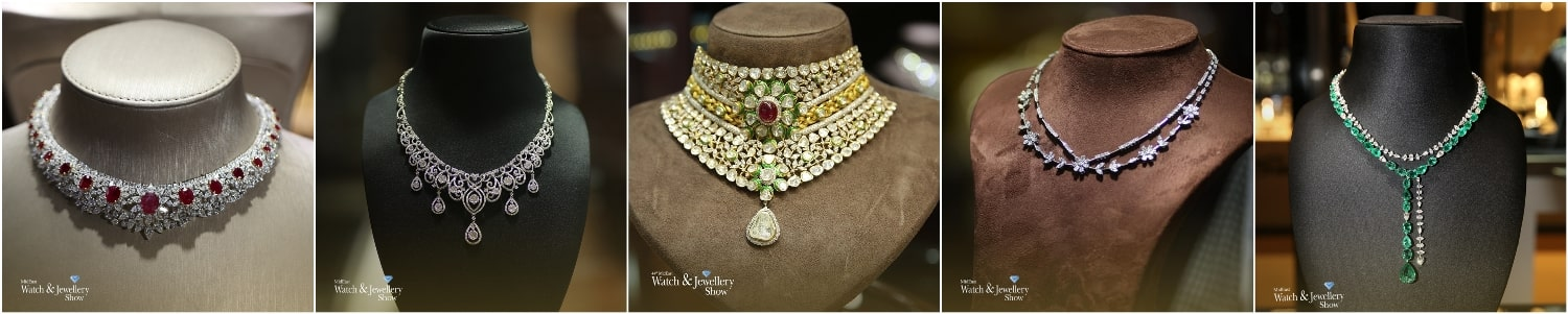 Колье на ювелирной выставке «MidEast Watch & Jewellery Show Sharjah».